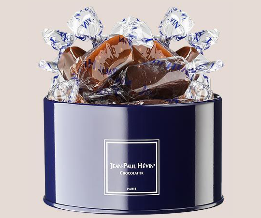 Caramels - blue tin box