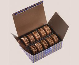 Etui 10 macarons chocolat