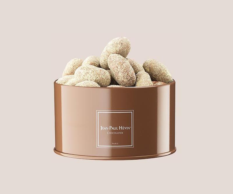 Boite amandes chocolat duja pistache petit modèle