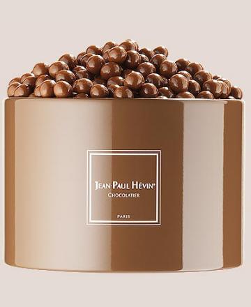 Petite boite métal perle chocolat au lait