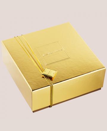 coffre d'or chocolats grands crus fermé