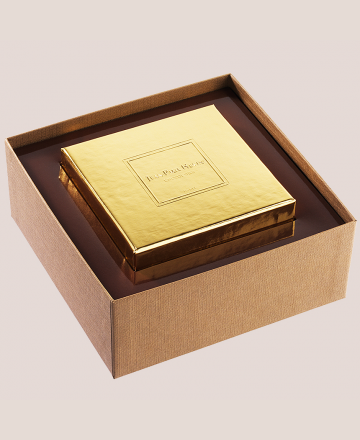 coffre d'or chocolats grands crus couvercle or