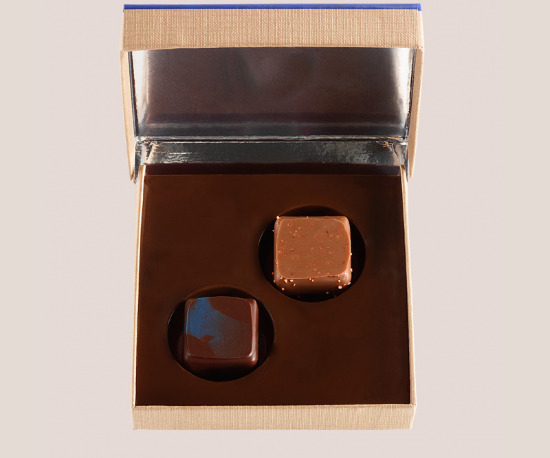 boite 2 chocolats assortiment