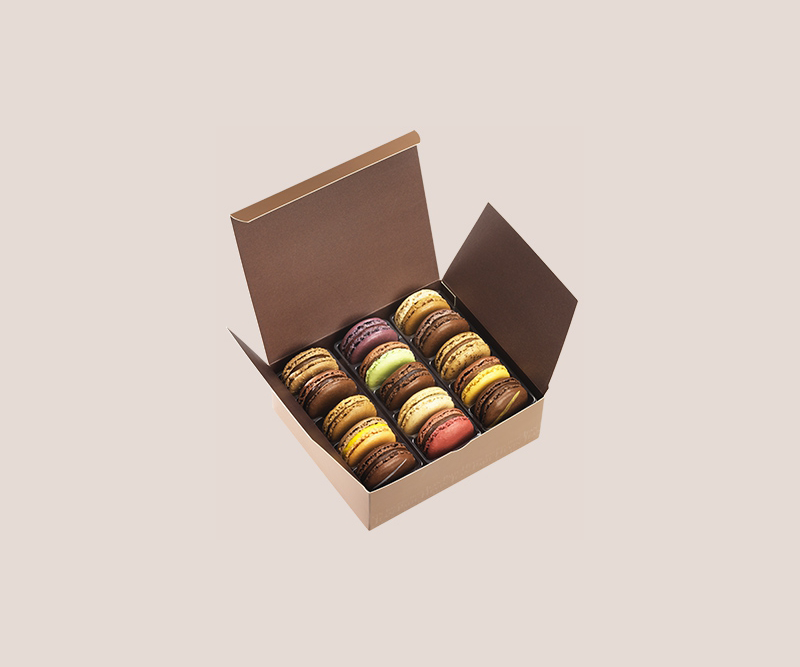 Coffret de 15 macarons assortiment