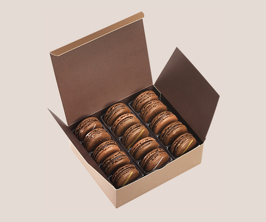 Etui 15 Macarons Total Cacao