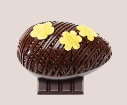 Small dark chocolate egg...