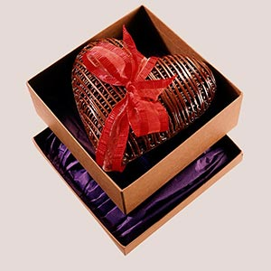 Coeur dentelle chocolat